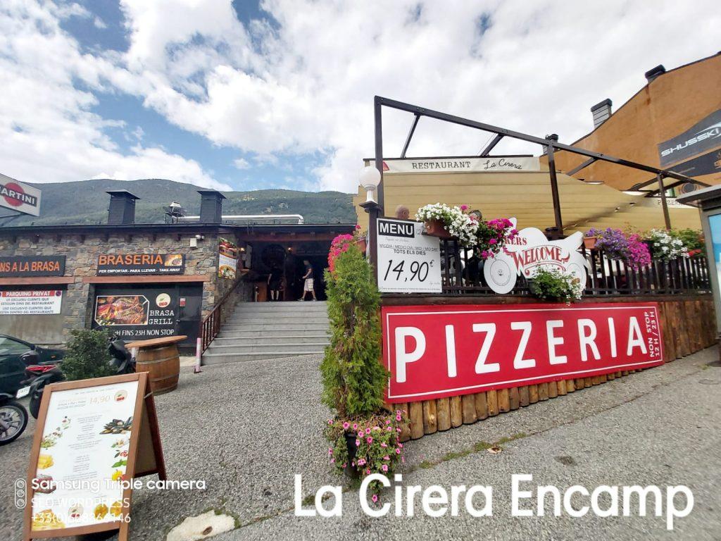 Restaurante La Cirera en Encamp , se ha ido consolidando como posiblemente uno de los mejores restaurantes especializados en Pizzas del Principat d'Andorra.
